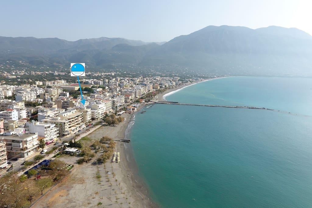 Kalamata Top Rooms Apartments Rent - Seafront Penthouse LEO