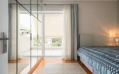 Kalamata Top Rooms FIL27 Comfortable spacious apartment at central position. Bedroom 1 Window View