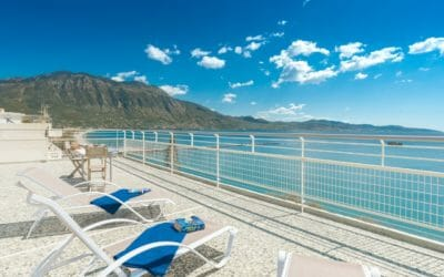 Kalamata Top Rooms Seafront Penthouse LEO southTerrace view