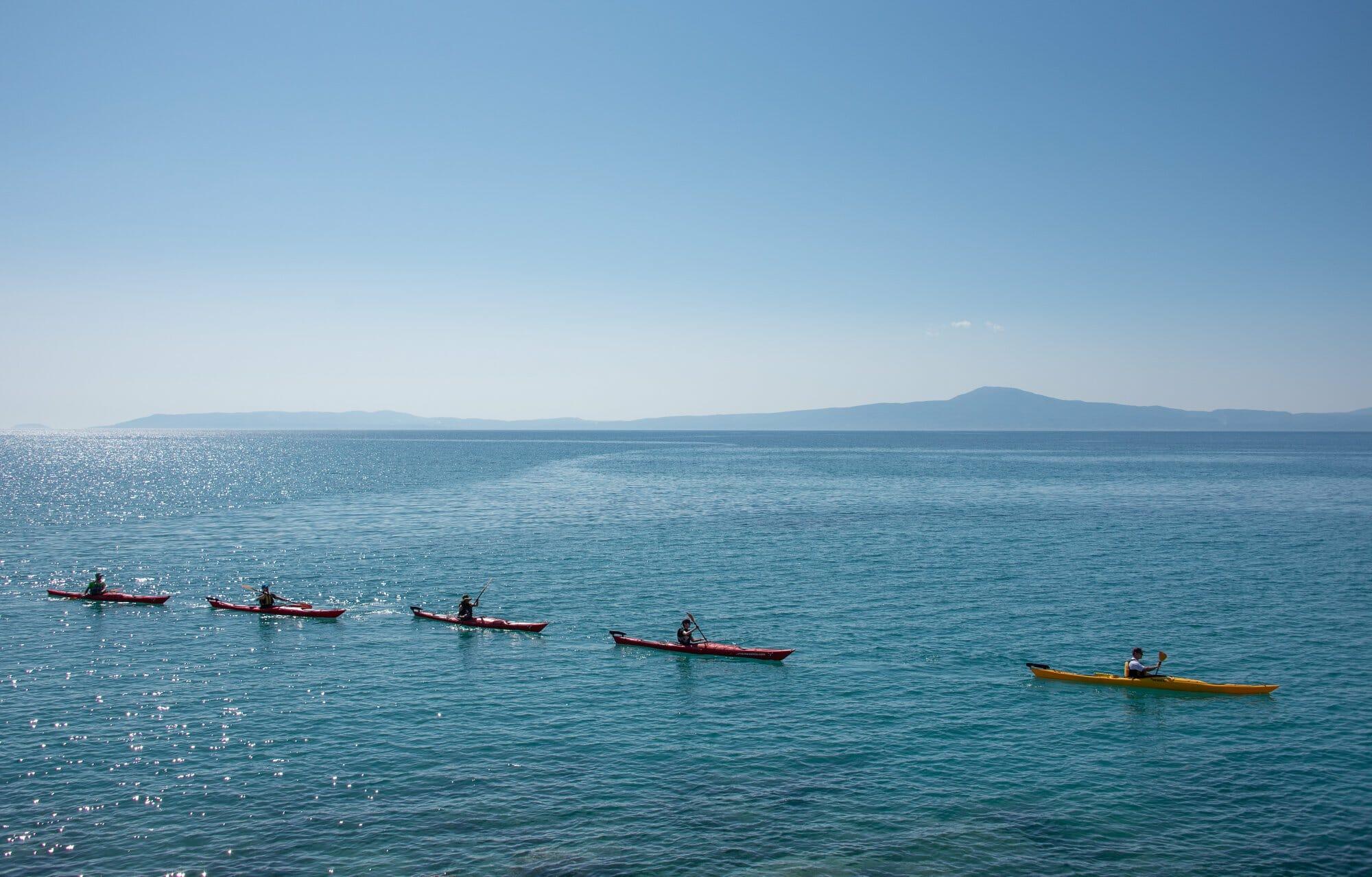 Kayaking on Messinian Bay