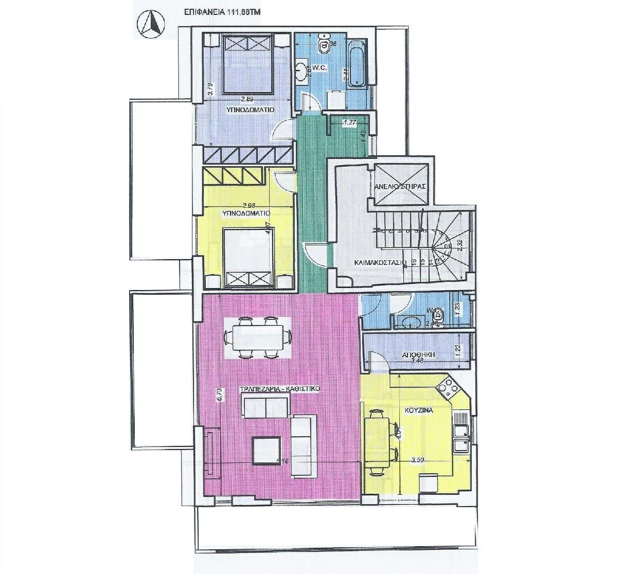 Kalamata Top Rooms Apartments Rent - Comfortable City Apartment
