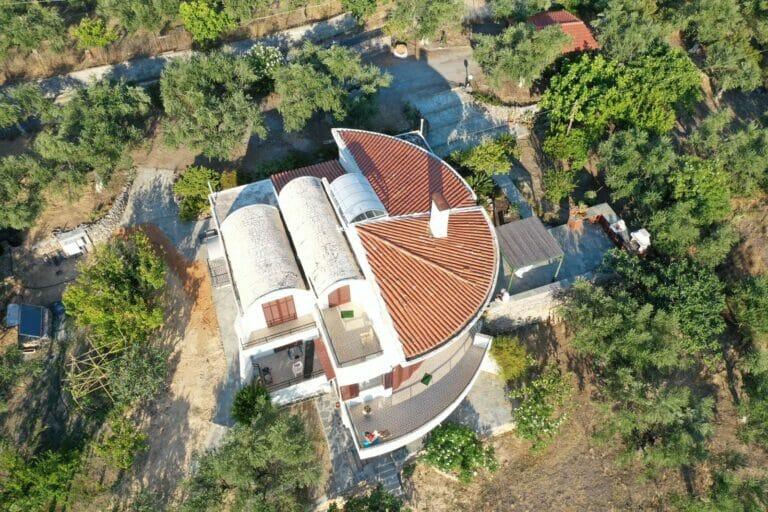 Villa Orea Elena Santova / Birds eye view from straight above